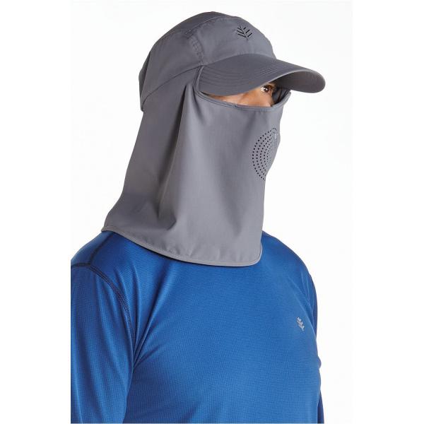 Casquette Ultra Sport cache-nuque & cache-visage Gris- Coolibar