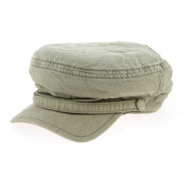 Cap Marin Peabody Cotton & Linen Olive- Stetson