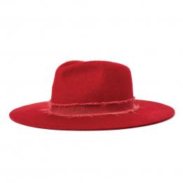 Chapeau Fedora Ella Feutre Laine Rouge- Brixton