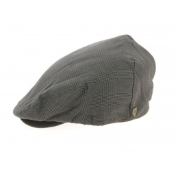 Casquette Plate Hooligan Carreaux Marron- Brixton