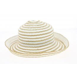 Chapeau Cloche Brigitte Coton Blanc- Traclet
