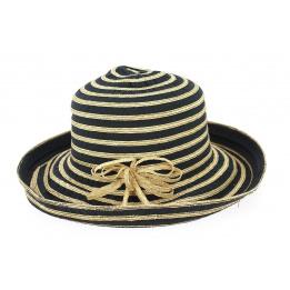 Chapeau Cloche Brigitte Coton Noir- Traclet