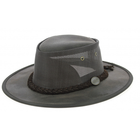 Australian hat Foldaway Cooler Brown- Barmah