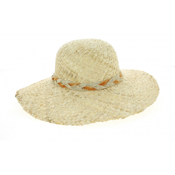 Natural Straw Gina Capeline- Traclet