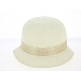 Chapeau Cloche Esmeralda Paille de Panama Naturel - Traclet