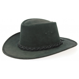 Swagman Traveller Hat Black Leather - Bc Hats