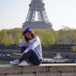 Béret Français - béret Bleu Royal