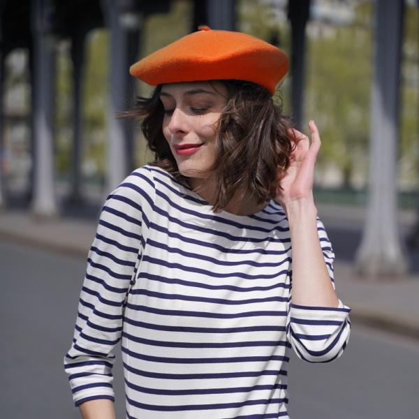 Béret Français - béret Orange