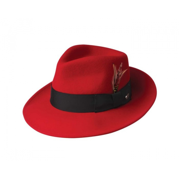 Chapeau Fedora LiteFelt®  Rouge - Bailey
