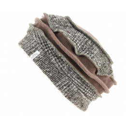 Toque Edline Doublure Polaire Taupe- Traclet