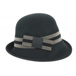 Chapeau Cloche Solange Feutre Laine Noir- Traclet