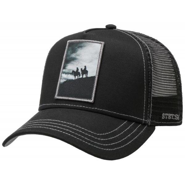 Black Trucker Silhouette Cap - Stetson