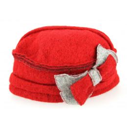 Chapeau Valérie Rouge Laine- Traclet