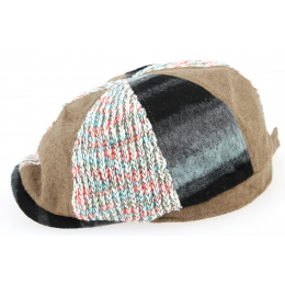Duck's Beak Brown Patchwork Cap - Traclet
