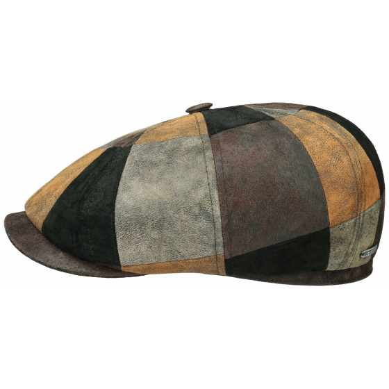 Casquette Hatteras cuir noir - Stetson