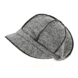 Casquette Gavroche Grise Laine- Traclet