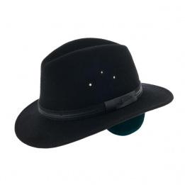 Chapeau Traveller Mac Eye Cache-Oreilles Feutre Laine Noir- Herman