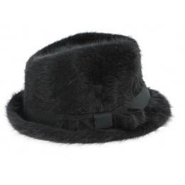 Chapeau Trilby Padola Angora Noir- Traclet