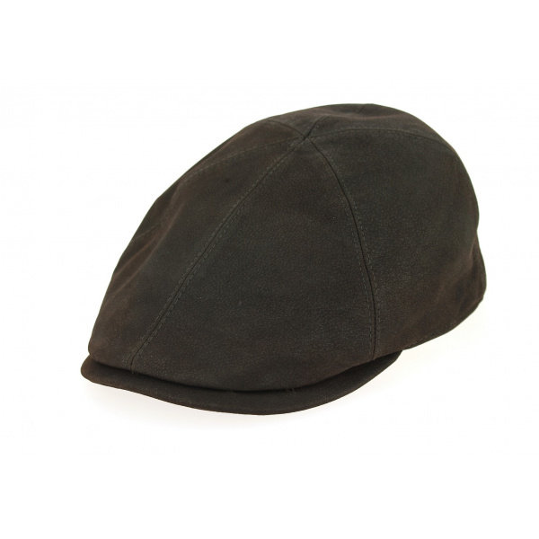 Brown Leather Duckbill Cap - City Sport