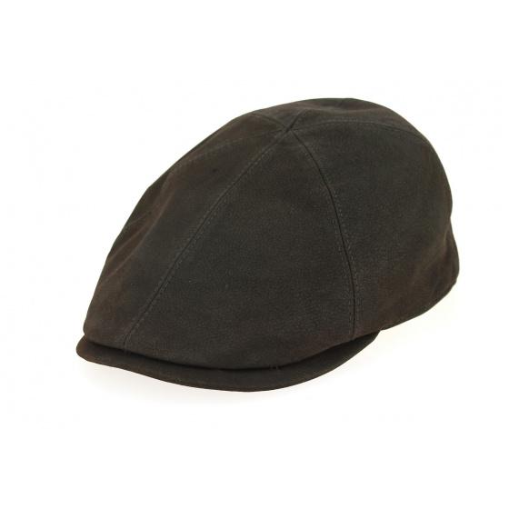 Brown Leather Duckbill Cap - City Sport