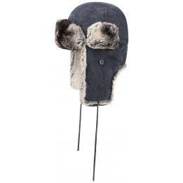 Bonnet Aviateur Westford Cuir Bleue- Stetson