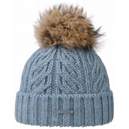 Bonnet à Pompon Lanette Bleu- Stetson