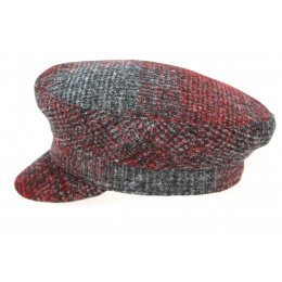 Casquette Camaret Anan Rouge & Anthracite- Traclet