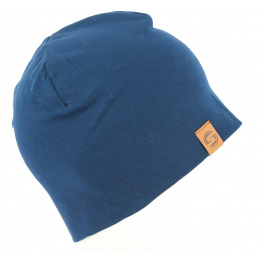 Bonnet Basic Coton Bleu- Super Yellow