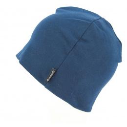 Bonnet Basic Coton Bleu- Super Yellow
