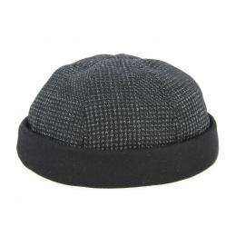 Bonnet Docker Laine & Coton Noir- Göttmann