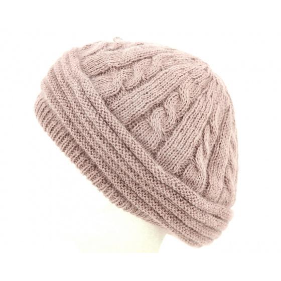Baroni Angora & Pink Wool Beret- Traclet