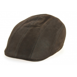 Brown leather cap Caloway by Traclet: