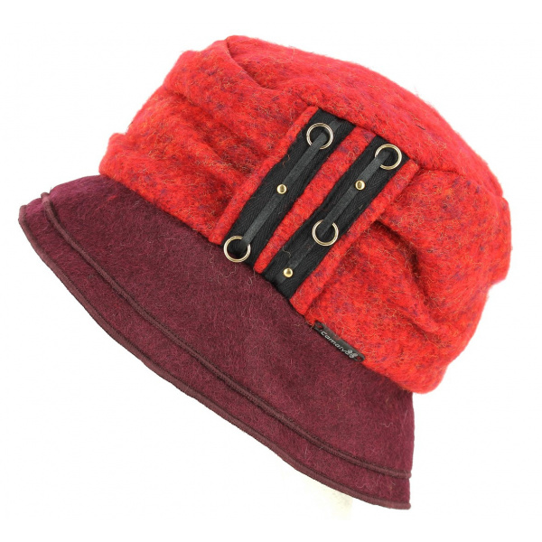 Chapeau Bob Odenas Rouge & Prune- Traclet