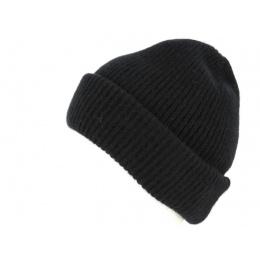 Bonnet à Revers Iggio Cachemire Noir- Traclet