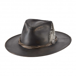 Chapeau Traveller One-Off Cuir Marron- Bullhide