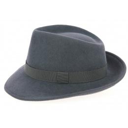 Chapeau Fedora Feutre Laine Anthracite- Traclet