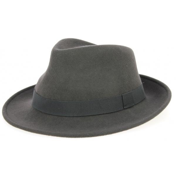 Fedora Hat Wool Felt Navy