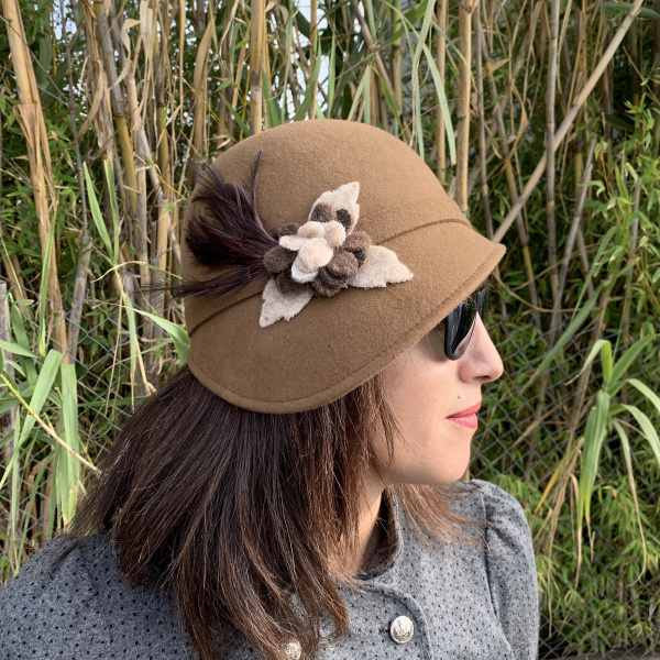 Hat cloche Straw panther