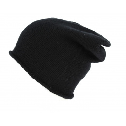Bonnet Long Laine & Cachemire Soft Noir - Eisbär