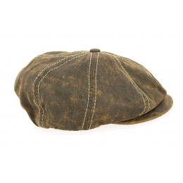 Bakerboy Cap Brown Cotton Leather Imitation Cotton - Traclet
