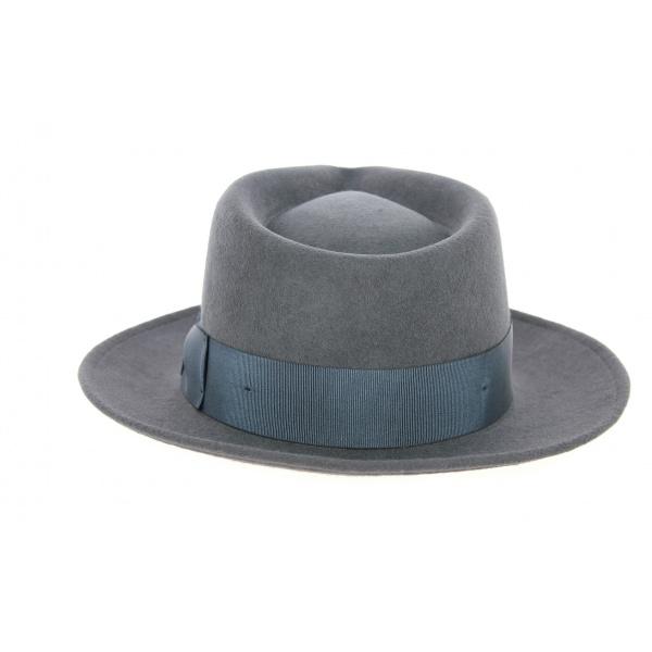 Chapeau Fedora Malaga Feutre Laine Gris- Traclet