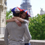 French beret - Blue white red