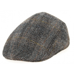 Casquette Bombée Brighton Harris Tweed Laine Marron- Crambes