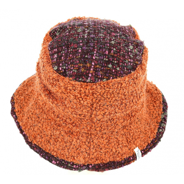 Chapeau Cloche Chantal Bordeaux & Brique- Traclet