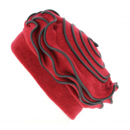 Toque Polaire Femme Najac Rouge- Traclet