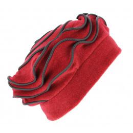 Women's Polar Fleece Toque Najac Red- Traclet