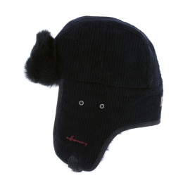 Chapka Buck Velvet Faux Fur Black - Herman