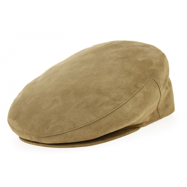 Casquette Plate Alcantara ® Camel- Traclet
