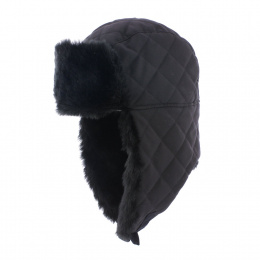 Chapka Buck Black Quilted Faux Fur - Herman