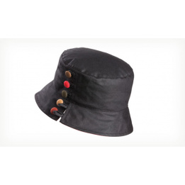 Chapeau de pluie Olivia Wax Noir - Olney